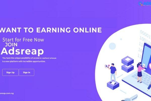 Adsreap (adsreap.com.ng)review. Legit or scam?